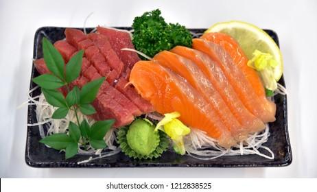Sashimi Salmon Tuna Hamachi Prawn