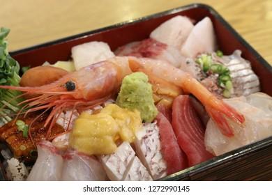 Sashimi and Shrimp Plating
