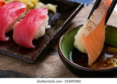 Sashimi sushi at home