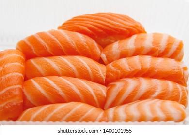sashimi sushi set, close-up view