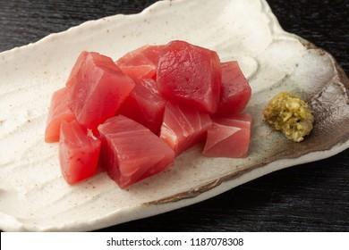 Sasimi of tuna meat