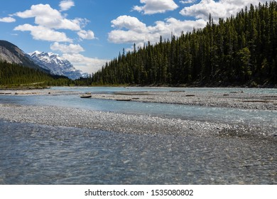 The Saskatchewan River in the Rocky Mountains of Canada