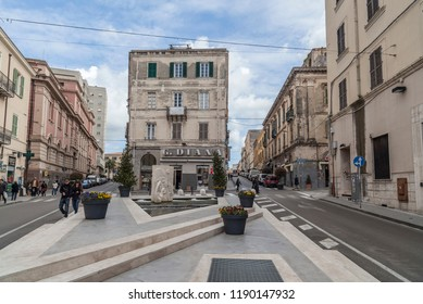 SASSARI,ITALY-APRIL 9,2013:City center street, Sassari,Sardinia,Italy.