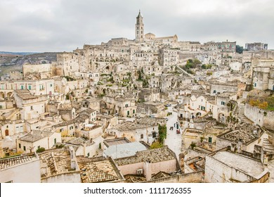 The Sassi of matera, ancient town, matera landscape by day, details of the Sassi of Matera, ancient city, landscape by day, historical center