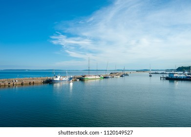 SASSNITZ, GERMANY - June 245, 2016: Fishing port in Sassnitz on the island of Rügen at the Baltic Sea
