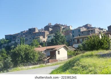 Sasso d'Ombrone (Maremma, Tuscany, Italy), historic village