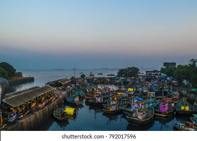 Sasson Dock in Mumbai area. This is one of the oldest docks in the heart of Mumbai. The smell of fishes in the area make this dock peculiar.