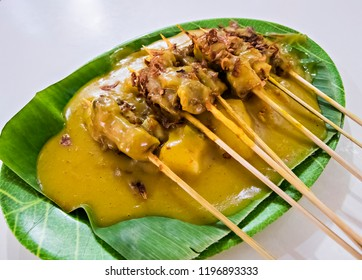Satay (Sate) Padang, traditional food from Padang, West Sumatera, Indonesia
