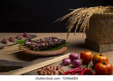 satay (sate) traditional food of indonesia