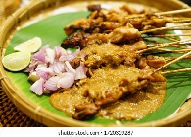 Sate Ayam Chicken Satay Peanut Sauce Indonesia