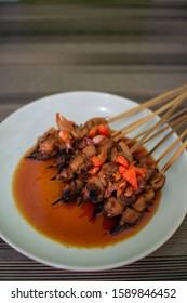 Sate Jamur pedas Makanan Indonesia