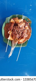 Sate Padang is a traditional spicy satay from Padang West Sumatera Indonesia