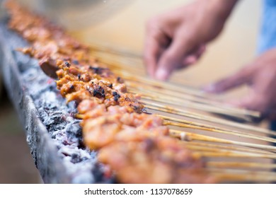 sate, traditional Indonesian food