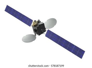 Satellite. 3D Rendering.