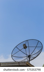 satellite disc with blue sky
