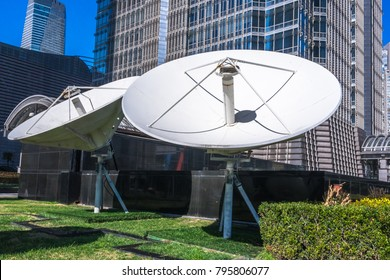 satellite dish antennas with modernbuilding