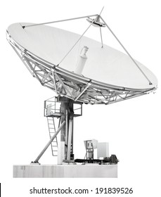 A satellite dish is a dish-shaped type of parabolic antenna designed to receive microwaves from communications satellites, which transmit data transmissions or broadcasts, such as satellite television