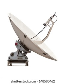 satellite dish of mobile phone isolated white