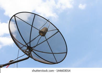 satellite dish and sky in thailand