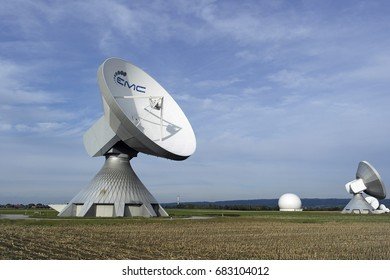 Satellite dishes in Bavaria , Germany. October 2016. For editorial use only