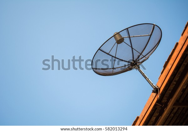 Satellite dishes on the roof