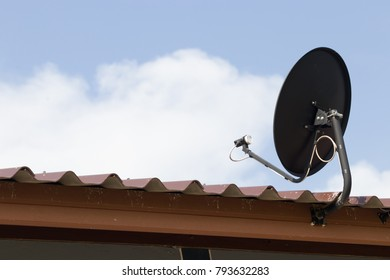 Satellite dishes are used for black. Watch satellite television