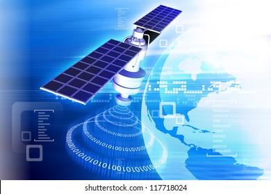 satellite  at the Earth orbit