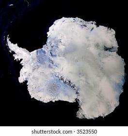 Satellite image of Antarctica