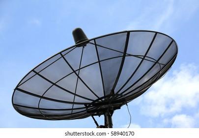 Satellite on the blue sky