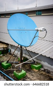 satellite terminal on the roof, for network and telecommunication