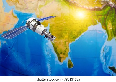 Satellite tracking communications in space over India, Hindustan
