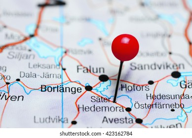 Sater pinned on a map of Sweden