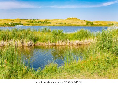 Sather Lake in Little Missouri National Grassland, North Dakota, USA