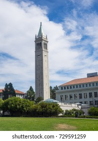 Sather Tower is a campanile (clock tower), with clocks on its four faces, on the University of California, Berkeley campus
