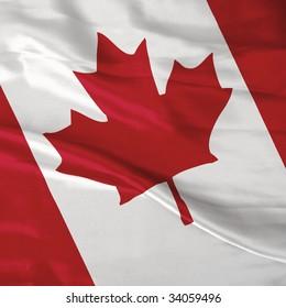 Satin Canada flag