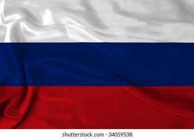 Satin Russian flag