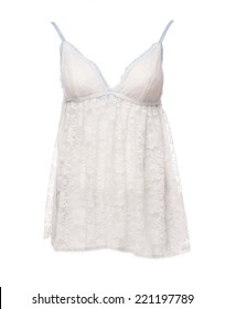 Satin Women's nightgown isolated on a white background
