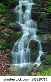 Satina waterfall, Beskydy, Czech republic