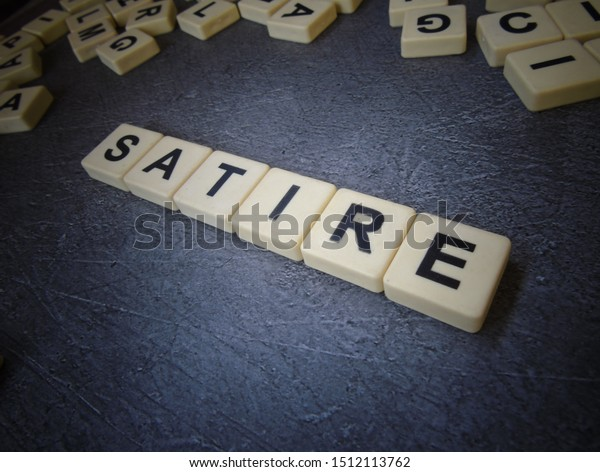 Satire Word Cube Background Stock Photo Edit Now 1512113762