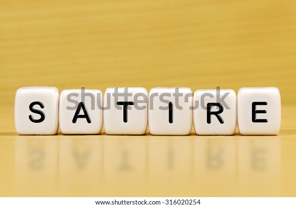 Satire Word On Blocks Stock Photo Edit Now 316020254