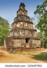 The Satmahal Prasada is a seven-level dagoba srhine in the historic ancient city of Polonnaruwa in central Sri Lanka.