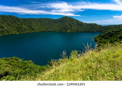 Satonda island Indonesia.  A volcano lake at Teluk Saleh Strait, Sumbawa Island, East Nusa Tenggara, Indonesia