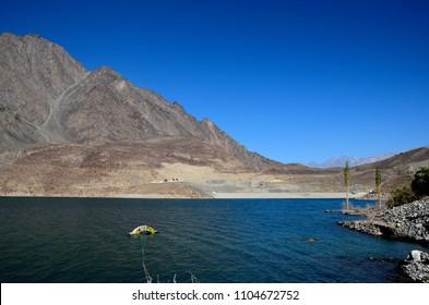 Satpara Lake, Skardu, Pakistan - October 2, 2016: Satpara Lake is a natural lake near Skardu, Gilgit-Baltistan, Pakistan, which supplies water to Skardu Valley. It is fed by the Satpara Stream.