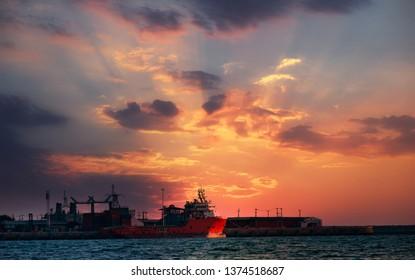 SATTAHIP, THAILAND - APRIL 13, 2019: Product Port in Sattahip.