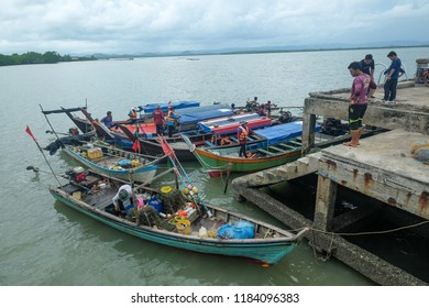 SATUN, THAILAND 7 SEPT, 2018 - Scenery of fishing village in Satun, Thailand. Satun is countrys' southern province popular with tourism attraction.
