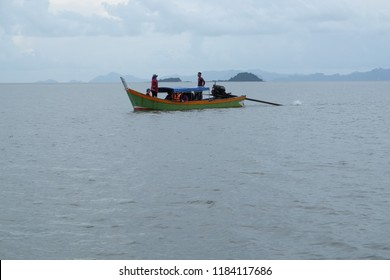 SATUN, THAILAND 7 SEPT, 2018 - Scenery at fishing village in Satun, Thailand. Satun is countrys' southern province popular with tourism attraction.