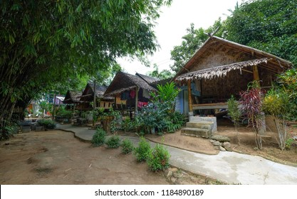 SATUN, THAILAND 7 SEPT, 2018 - Guest house or home-stay accommodation at Wang Sai Tong river in Satun. Satun is southern province of Thailand popular with halal tourism.