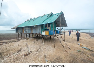 Satun, Thailand - 7 September, 2018 : Tourists from Malaysia visiting fishing village in Satun, a province in southern Thailand.