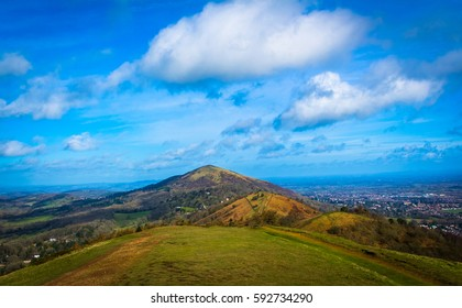 Saturday morning walk in March 2017 over the Malvern hills, from great Malvern to Colwall.