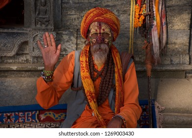 Saturday October 13 2018, Katmandu Nepal, the city is surrounded by temples, and these inhabited by mystical monks to the surroundings, that adds a fee of spirituality to the atmosphere of the place